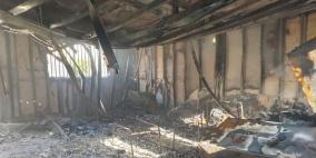 إحراق روضة أطفال في قرية حورة
