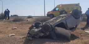 النقب: وفاة شابين بحادث سير
