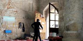 قوات الاحتلال تقتحم مصلى باب الرحمة  وتصور داخله