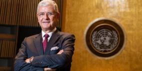 رئيس الجمعية العامة: الحل الدائم للصراع يجب أن يستند إلى رؤية الدولتين