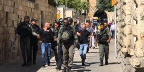 الاحتلال يعتقل 4 مواطنين عند باب الأسباط