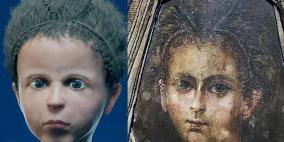 إعادة بناء وجه مومياء طفل مصري