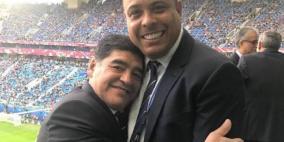رونالدو يكشف سر ارتداء مارادونا ساعتين
