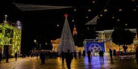 اضاءة شجرة الميلاد في بيت لحم
