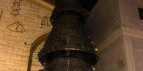 للمرة الثانية: إحراق شجرة الميلاد في سخنين