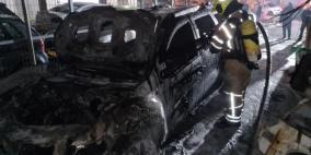 كفر ياسيف: احتراق سيارتين في مرأب