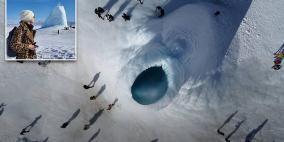 """""""بركان"""" جليدي ينمو في كازاخستان مع الطقس البارد!"""