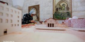 """""""نورا جردانه"""" توثّق تاريخ نابلس العريق في مجسمات فنية"""