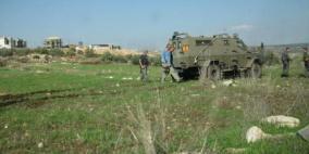 الاحتلال يمنع مزارعين من حراثة أراضيهما في سلفيت