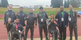 تونس: منتخب فلسطين لألعاب القوى يتوج بالذهب والبرونز