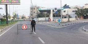 غزة: إغلاق جميع المؤسسات التعليمية ووقف حركة المركبات