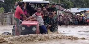157 قتيلا في فيضانات إندونيسيا وتيمور الشرقية