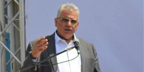 غنيم يضع حجر الأساس لمشروع الري الزراعي شمال غزة
