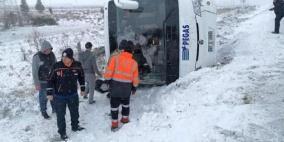مصرع سائح روسي وإصابة 26 بحادث حافلة في تركيا