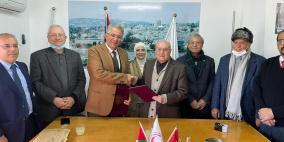 جامعة القدس توقع مذكرة وجمعية الهلال الأحمر لتدريب طلبة الكليات الطبية