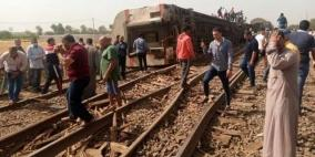 مصرع 8 أشخاص وإصابة العشرات جراء انقلاب قطار في مصر