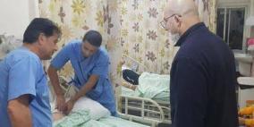 الهدمي يتفقد جرحى اعتداءات الاحتلال الوحشية في الأقصى والشيخ جراح