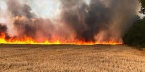 40 حريقا في غلاف غزة نتيجة البالونات الحارقة