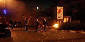 إغلاق حاجز حوارة وإصابات بالاختناق جنوب نابلس