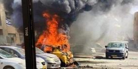 شاهد.. صواريخ غزة تصيب المباني والسيارات في عدة مدن