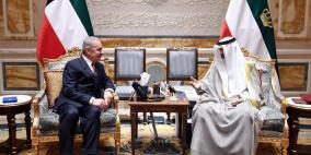 تفاصيل لقاء اشتية مع أمير الكويت