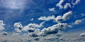 الطقس: أجواء غائمة جزئيا وصافية حتى الخميس