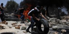 إصابة شاب برصاص الاحتلال في الرأس خلال مواجهات شرق رام الله