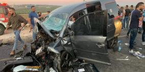 محدث: وفاتان وإصابات خطيرة في حادث سير مروع جنوب نابلس