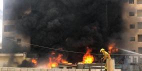 حريق كبير داخل فندق في بيروت