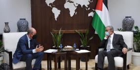 تفاصيل لقاء اشتية مع المبعوث الأميركي في رام الله