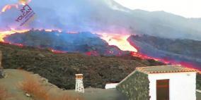 فيديو مرعب.. تسونامي بركاني يلتهم منازل بلدة في إسبانيا
