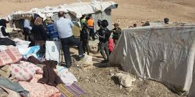 بالصور: الاحتلال يهدم مساكن في مسافر يطا