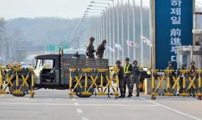 جسم طائر يشعل الحدود الكورية