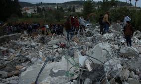 جرافات الاحتلال تهدم 3 منازل في واد برقين بجنين