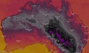 بسبب موجة حر قاسية: خريطة أستراليا تتحول إلى الأسود لأول مرة