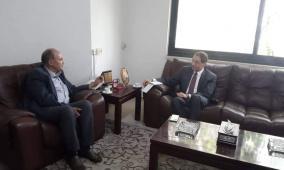 د. واصل ابو يوسف يستقبل السفير المصري لدى دولة فلسطين