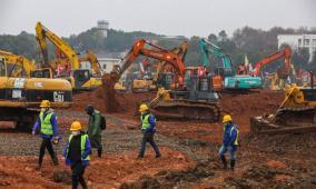 الصين تباشر في بناء مستشفى خلال 10 أيام فقط لمحاربة الفيروس الجديد