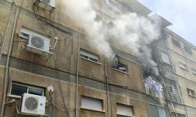 حيفا: نشوب حريق داخل شقة سكنية