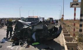 النقب: مصرع مسن وإصابة 5 آخرين في حادثي طرق