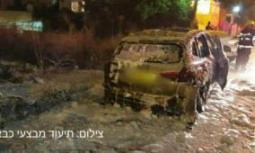 احتراق سيارة رئيس بلدية قلنسوة بعد أشهر من إطلاق نار على منزله