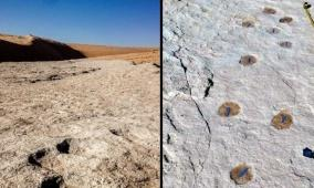 اكتشاف آثار أقدام تعود إلى 120 ألف عام في السعودية