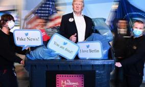 متحف يُزيل تمثال ترامب كإجراء تحضيري لنتيجة الإنتخابات