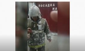 شاهد ماذا حدث لرجال الإطفاء في جليد سيبيريا