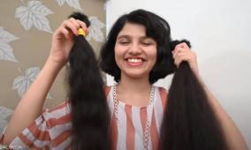 شاهد.. صاحبة أطول شعر في العالم تقصه أخيرا