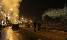 مواجهات مع الاحتلال قرب بابي العامود والساهرة وفي أحياء سلوان
