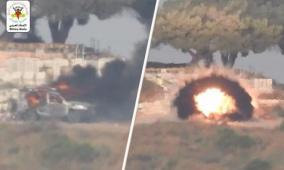 شاهد: سرايا القدس تنشر فيديو استهداف جيب عسكري على حدود غزة