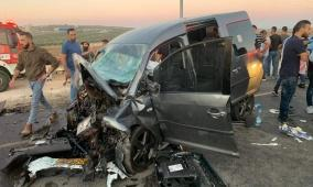 شاهد: وفيات وإصابات في حادث سير مروع قرب نابلس