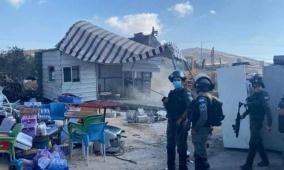 الاحتلال يخرب منشأة تجارية على مدخل بلدة يعبد