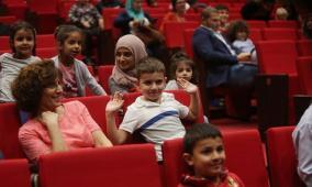 إفتتاح برنامج الأطفال ضمن مهرجان أيام السينمائية في المسرح البلدي في بلدية رام الله