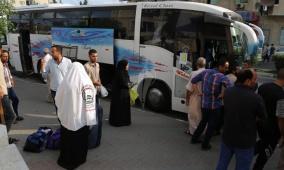 مغادرة الفوج الثالث من حجاج غزة